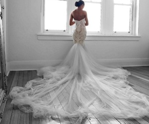 fashion, girl, and wedding image