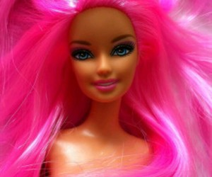 barbie, pink, and hair image