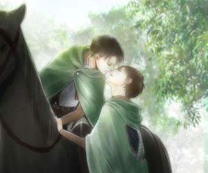 fanart, attack on titan, and ereri image