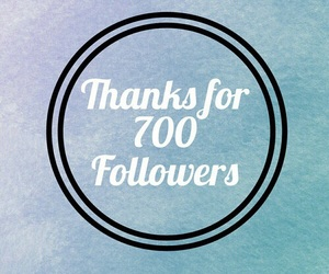 followers, thank you, and 700 image