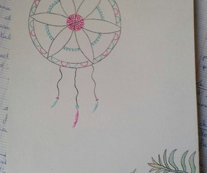draw, flower, and indian image