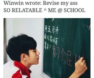 meme, school, and winwin image