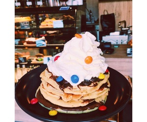breakfast, pancake, and m&m's image