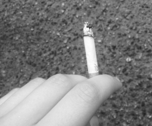 always, black and white, and cigarete image