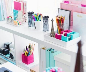 school, desk, and room image