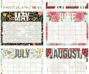 calendar, planner, and sticker image