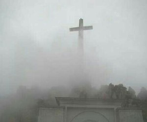 cross, pale, and fog image