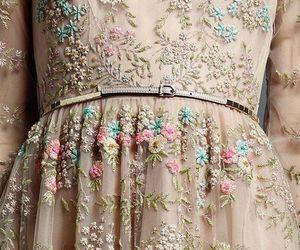 dress, Valentino, and flowers image