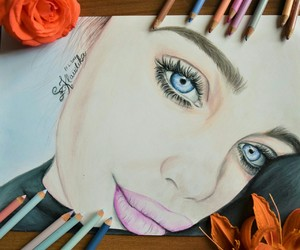 blueeyes, colorful, and drawing image