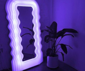neon, mirror, and blue image