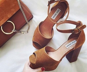 shoes, fashion, and brown image