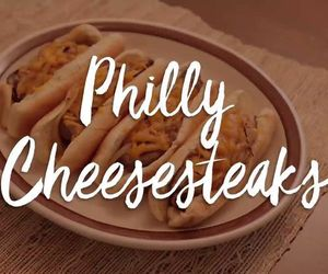 philly, savory, and cheesesteak image