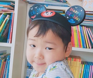 baby, korean, and of image