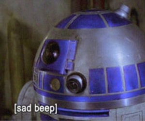star wars, sad, and r2d2 image