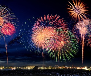 colors and fireworks image