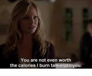 the vampire diaries, caroline, and quotes image