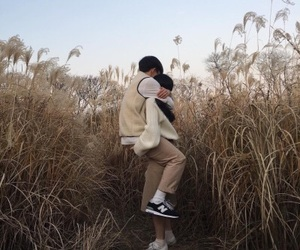 couple, ulzzang couple, and love image