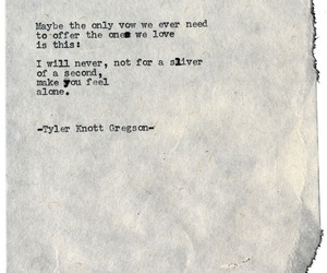 alone, typewriting, and loneliness image