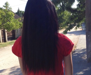 black, hairstyles, and red image