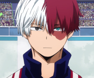 anime, my hero academia, and todoroki shouto image