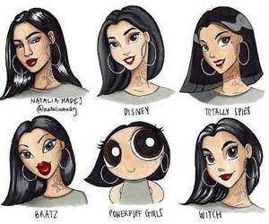 disney, bratz, and drawings image