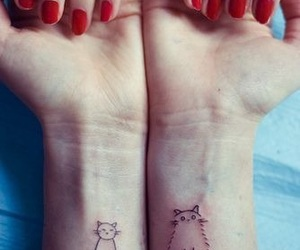 cat, tattoo, and nails image