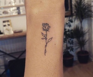 tattoo, rose, and flower image