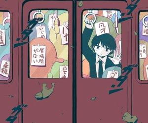 イラスト, 電車, and 病み image