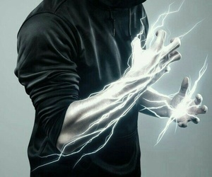 electricity, lightning, and witch image