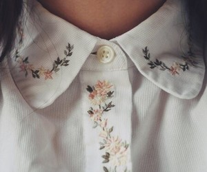 flowers, vintage, and collar image