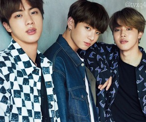 bts, jin, and jungkook image