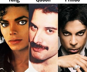 michael jackson, prince, and Queen image