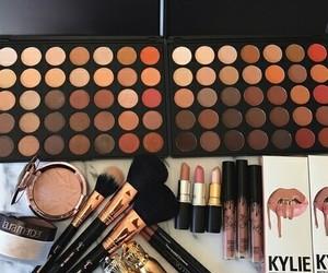autumn, Brushes, and eyeshadow image