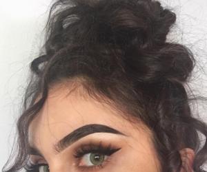 eyebrows, eyelashes, and face image