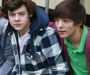 louis tomlinson, larry, and Harry Styles image