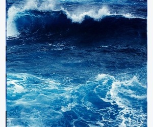 blue, ocean, and wave image