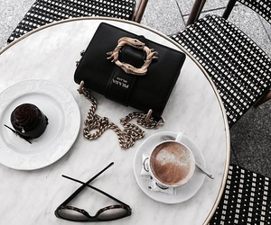 coffee, food, and Prada image