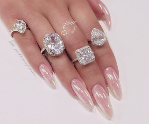nails, diamond, and luxury image