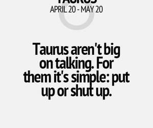 fact, talking, and taurus image