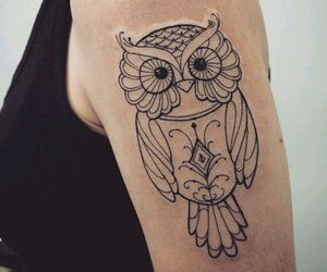 tattoo, owl, and idea image
