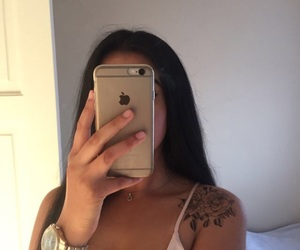 girl, tattoo, and iphone image