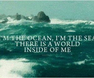 ocean, sea, and quote image