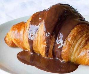 chocolate, croissant, and food image