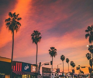 sunset, tumblr, and california image