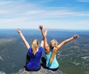 girls, norwegian, and nature image