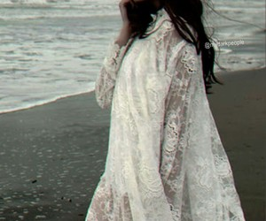 dress, beach, and lace image