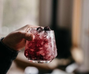 drink, ice, and cocktail image