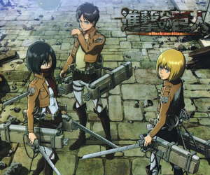 anime, mikasa, and attack on titan image
