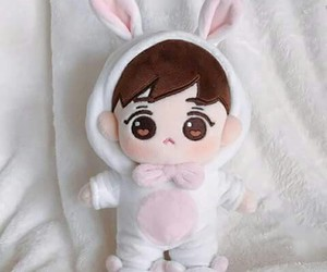 bunny, cute, and exo doll image