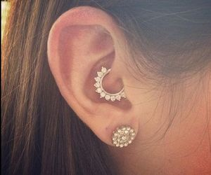 piercing, daith piercing, and daith image